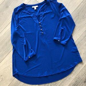 Beautiful Bold Royal Blue Dana Buchman Blouse